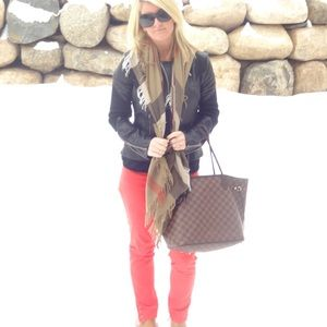 Red Tory Burch Skinny Jeans